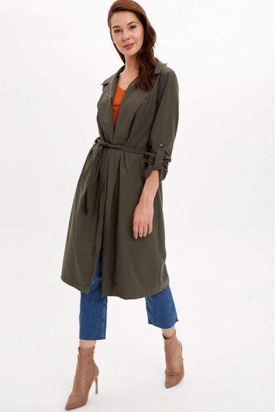 DEFACTO- платья, свитеры, кардиганы Кофты,  джинсы и пр   — Женские Верхняя одежда тренчкот плащ — Ветровки и легкие куртки