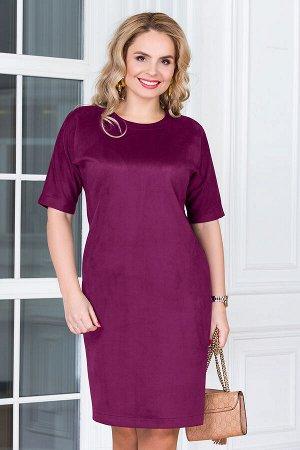 Платье Вискоза - 88%, Полиамид - 6%, Лайкра - 6%. сливовый, Светло-Бежевый,Тёмно-Зелёный, Синий, бордо, кофейный, черный, фисташка, фиолетовый, Светло-Коричневый