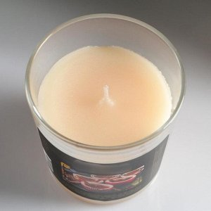 """Свеча в гладком стакане ароматизированная """"Пряное яблоко"""""""