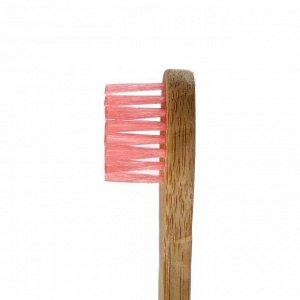 Бамбуковая зубная щётка Biocase, мини, розовая