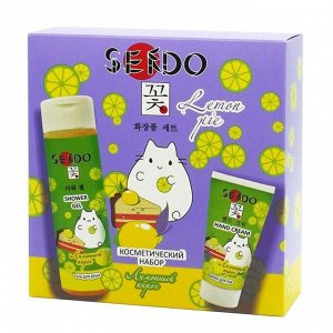 Подарочный набор Sendo «Лимонный пирог»: гель для душа, 200 мл + крем для рук, 50 мл
