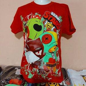 Светящаяся футболка «Brawl stars»  красная