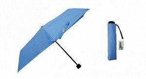 """""""Simple"""" Зонт женский, 3 слож., механический, небесно-голубой TU308 С02 ВЭД"""