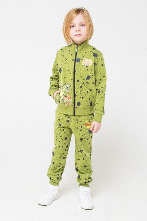 Брюки(Осень-Зима)+boys (зеленый, брызги краски к1251)