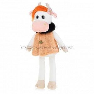 Коровка Глаша в бежевом пальто, 23см