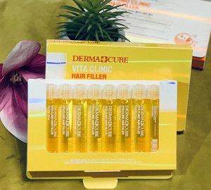 Филлеры для волос с витаминным комплексом Farm Stay  Dermacube Vita Clinic Hair Filler