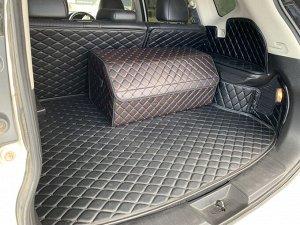 Органайзер Большой Эко Кожа в багажник авто Черный с красный строчкой Akuma
