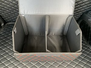 Органайзер Средний Эко Кожа в багажник авто Черный с красной строчкой Akuma