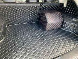 Органайзер Маленький Эко Кожа в багажник авто Черный с красной строчкой Akuma