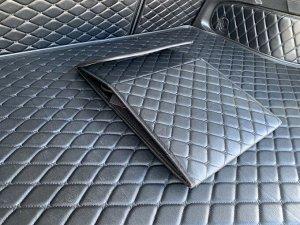 Органайзер Маленький Эко Кожа в багажник авто Черный с черной строчкой Akuma