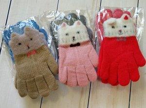Перчатки детские с начесом (2-4года)