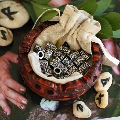 Очаруйтесь гармонией весны — Бусины металлические скандинавские  РУНЫ. — Бисер и бусины