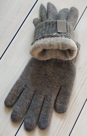 Перчатки детские двойные с начесом (10-14 лет)