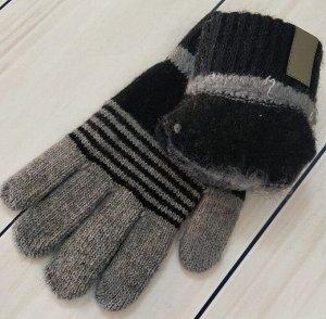 Перчатки подростковые с начесом (7-10 лет)