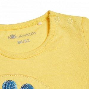Футболка для девочки, желтый