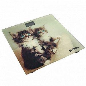 """Весы 180 кг 26х26 см электронные напольные DELTA D-9228/1 """"Котята"""""""
