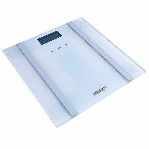 """Весы 180 кг 28?28 см электронные напольные DELTA LUX DE-4600 """"SMART"""" белые"""