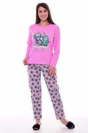Пижама женская 1-195 (розовый)