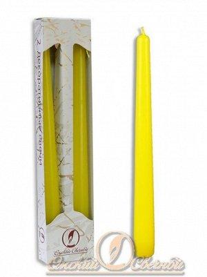 Свеча античная набор 2 шт цвет жёлтый