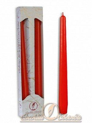 Свеча античная набор 2 шт цвет красный