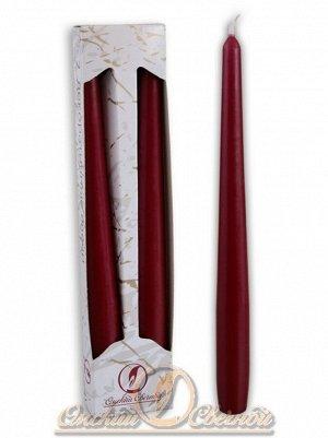 Свеча античная набор 2 шт цвет бордовый