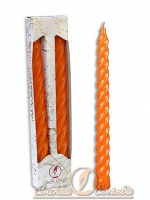 Свеча витая набор 2 шт цвет оранжевый