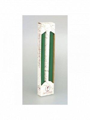 Свеча классическая набор 2 шт цвет темно-зелёный