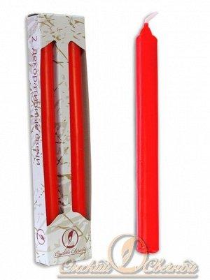 Свеча классическая набор 2 шт цвет красный