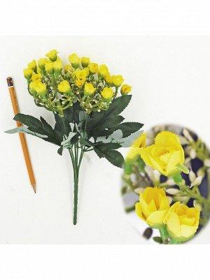 Букет розы мелкой 32 см цвет желтый  HS-19-1