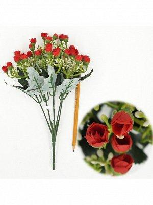 Букет розы мелкой 32 см цвет красный   HS-19-1