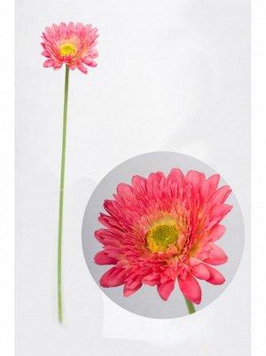 Гербера пушистая цвет розовый цветок искусственный