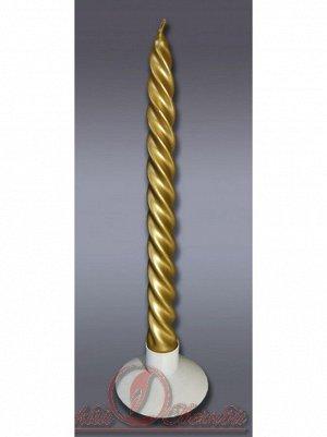 Свеча витая набор 2 шт цвет золотой