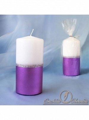 Пенек Сиренево-белый 60*125 свеча