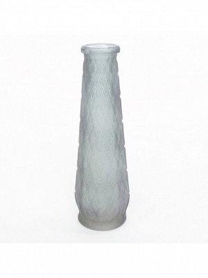 Ваза многогранник 21;5  х 6 см стекло матовое цвет серый