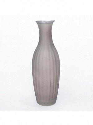 Ваза стекло малая рельефная h=23 см d=4;5/5 см цвет матовый коричневый HS-40-4