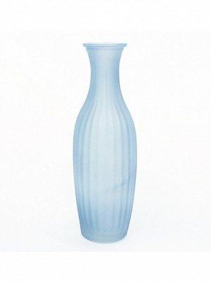 Ваза стекло малая рельефная h=23 см d=4;5/5 см цвет матовый синий HS-40-4