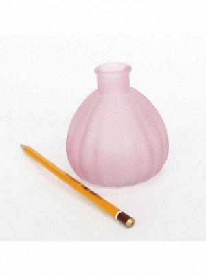 Ваза стекло Чернильница h=10 см d=7/3 см цвет матовый розовый HS-40-2