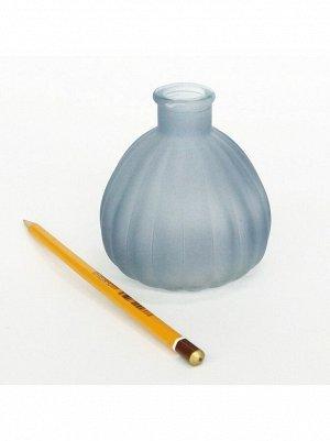 Ваза стекло Чернильница h=10 см d=7/3 см цвет матовый антрацитовый HS-40-2