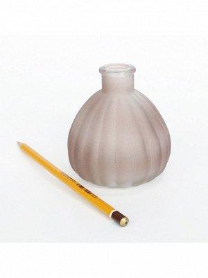Ваза стекло Чернильница h=10 см d=7/3 см цвет матовый коричневый HS-40-2