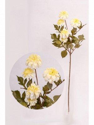 Георгина цветок искусственный 78см цвет бледно-зеленый