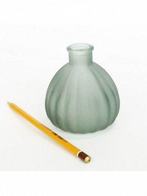 Ваза стекло Чернильница h=10 см d=7/3 см цвет матовый серый HS-40-2