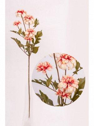Георгина цветок искусственный 78см цвет лососевый