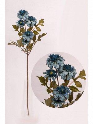 Георгина цветок искусственный 78см цвет синий