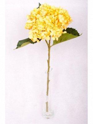 Гортензия желтая цветок искусственный высота 53 см