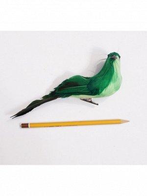 Птичка на зажиме цветная с черными крыльями 19 см цвет микс HS-18-7
