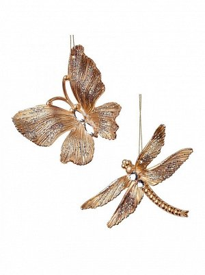 Бабочка/стрекоза  украшение подвесное 12см роз. CJ1703MPGLB