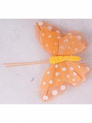 Птички/насекомые  бабочки на зажиме 202