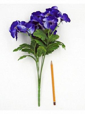 Анютины глазки букет цвет фиолетовый 48 см HS-19-4