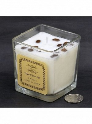 Свеча в стекле ( в коробке ) Кофе 6 х 7,5см