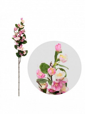 Ветка искусственная Яблоня 74см цв.Лиловый
